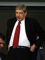 28.09.2011, Emirates Stadium, London, ENG, UEFA CL, Gruppe F, FC Arsenal (ENG) vs Olympiakos Piräus (GRE), im Bild Arsenal manager Arsene Wenger looks on from the stand // during the UEFA Champions League game, group F, ENG, UEFA CL, FC Arsenal (ENG) vs Olympiakos Piräus (GRE) at Emirates Stadium in London, United Kingdom on 2011/09/28. EXPA Pictures © 2011, PhotoCredit: EXPA/ Propaganda Photo/ Chris Brunskill +++++ ATTENTION - OUT OF ENGLAND/GBR+++++