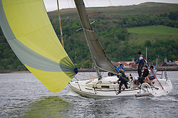 Day 1 Scottish Series, SAILING, Scotland.<br /> <br /> Jammin, J92, 9214R, Helensburgh SC, Fairlie YC<br /> <br /> The Scottish Series, hosted by the Clyde Cruising Club is an annual series of races for sailing yachts held each spring. Normally held in Loch Fyne the event moved to three Clyde locations due to current restrictions. <br /> <br /> Light winds did not deter the racing taking place at East Patch, Inverkip and off Largs over the bank holiday weekend 28-30 May. <br /> <br /> Image Credit : Marc Turner / CCC