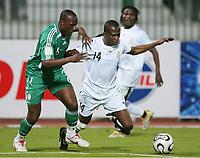 v.l. Joseph Enakarhire, Mathew Amoah Ghana <br /> Africa Cup 2006 Nigeria - Ghana<br /> Foto: Digitalsport