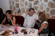 TRACEY EMIN; STEPHEN FREARS; MIUCCIA PRADA, Prada Congo Benefit party. Double Club. Torrens Place. Angel. London. 2 July 2009.