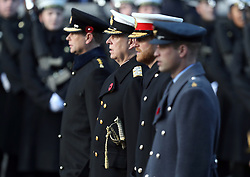 (left to right) The Earl of Wessex, the Duke of York, the Duke of Sussex and the Duke of Cambridge during the remembrance service at the Cenotaph memorial in Whitehall, central London, on the 100th anniversary of the signing of the Armistice which marked the end of the First World War.