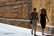 Spanish women in Calle Sacramento in Leon, Castilla y Leon, Spain