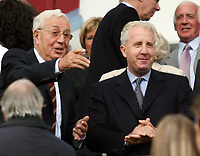 Photo: Rich Eaton.<br /> <br /> Aston Villa v Newcastle United. The Barclays Premiership. 27/08/2006. Doug Ellis chairman of Aston Villa with Randy Lerner at the start of the game
