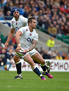 England fly-half Danny Cipriani (Sale Sharks) passes the ball during the International Rugby Union match England XV -V- Barbarians at Twickenham Stadium, London, Greater London, England on May  31  2015. (Steve Flynn/Image of Sport)