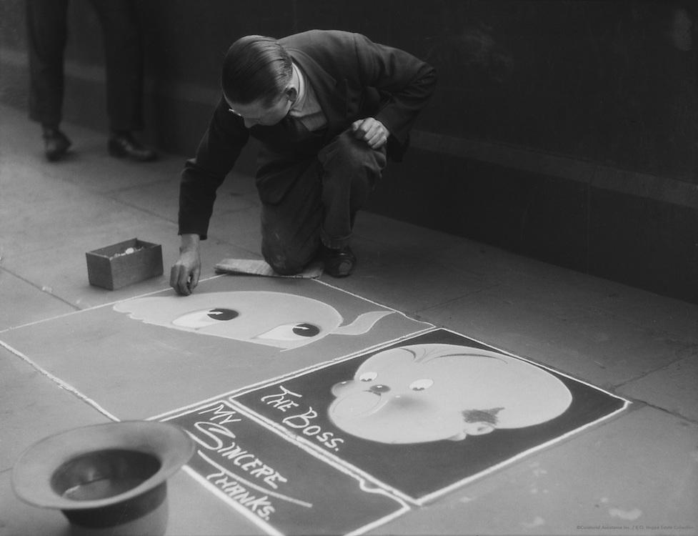 Pavement (Sidewalk) Artist, John Bentley, London, 1933