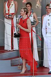 Princess Charlene of Monaco gives the award to 2nd classified Miki Raikkonen. Monaco on May 28th, 2017. Photo by Marco Piovanotto/ABACAPRESS.COM