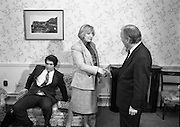 """""""Guildford Four"""" Release Committee.  (R98)..1989..20.03.1989..03.20.1989..20th March 1989..Two of the """"Guildford Four"""" release committee met with An Taoiseach, Charles Haughey,in his office in Government Buildings, Leinster House,Dublin today...Image shows Mr Errol Smalley and his wife Teresa, Secretary, Guildford Four Release Committee, who met with An Taoiseach, Charles Haughey in his offices today."""