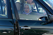 © Licensed to London News Pictures. 11/05/2012. Windsor, UK The Queen drives herself around the show ground. Queen Elizabeth II attends the The Royal Windsor Horse Show in Windsor, England on May 11 2012. Photo credit : Stephen Simpson/LNP