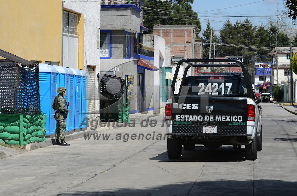 Toluca, México (Noviembre 03, 2016).- Aspectos de la Base de Operaciones Mixtas (BOM) en la Colonia el Seminario de la Capital Mexiquense. Agencia MVT / Arturo Hernández.
