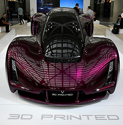 Nov 16, 2016. Los Angeles CA. Some of the 3D printed cars by Divergent 3D on display during the media day at the Los Angeles Auto show Wednesday. The show opens to the public on Nov 18th to the 27th.  photos by Gene Blevins/LA DailyNews/ZumaPress. (Credit Image: © Gene Blevins via ZUMA Wire)