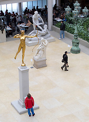 Sculptures in the Charles Engelhard Court  at Metropolitan Museum of Art in Manhattan , New York City, USA