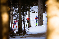 Competetors  during Men 12,5 km Pursuit at day 3 of IBU Biathlon World Cup 2015/16 Pokljuka, on December 19, 2015 in Rudno polje, Pokljuka, Slovenia. Photo by Ziga Zupan / Sportida