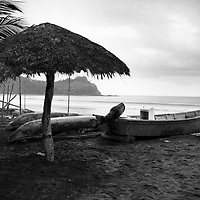 Fishing is the way of life in Mompiche, Ecuador. Nothing to do here but fish and surf.