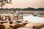 Breakfast preparation at the Chinzombo Safari Lodge, Luangwa Valley, Zambia, Africa