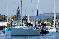 Sailing - SCOTLAND  - 25th May 2018<br /> <br /> Opening days racing the Scottish Series 2018, organised by the  Clyde Cruising Club, with racing on Loch Fyne from 25th-28th May 2018<br /> <br /> Tarbert harbour, GBR4757R, Moonstruck Too, Gordon Lawson, Port Edgar, J122<br /> <br /> Credit : Marc Turner<br /> <br /> Event is supported by Helly Hansen, Luddon, Silvers Marine, Tunnocks, Hempel and Argyll & Bute Council along with Bowmore, The Botanist and The Botanist