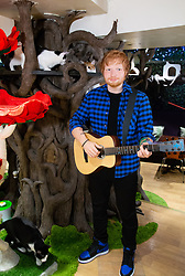 Dozens of cats welcome the unveiling of Madame Tussaud's waxwork of Ed Sheeran ahead of his UK tour. London, June 12 2018.