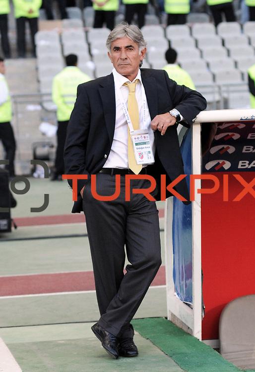 Karsiyakaspor's coach Erdogan ARICA during their Play Off First leg match at Ataturk olympic Stadium in Istanbul Turkey on Monday, 17 May 2010. Photo by TURKPIX