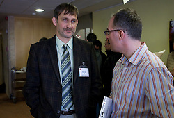 Dane Jost and Igor E. Bergant at Management conference of Slovenian Football Federation, on March 10, 2009, in Hotel Kokra, Brdo pri Kranju, Slovenia. (Photo by Vid Ponikvar / Sportida)