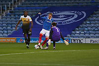 Football - 2020 / 2021 Sky Bet League One - Portsmouth vs. Crewe Alexandra - Fratton Park<br /> <br /> Portsmouth's Ronan Curtis go's round Will Jaaskelainen of Crewe to score his and Pompeys second goal of the game at Fratton Park <br /> <br /> COLORSPORT/SHAUN BOGGUST