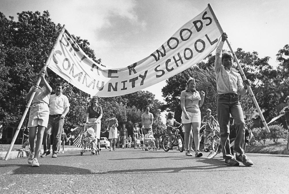 circa 1980's  community parade in Austin, Texas
