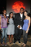 l to r: Soleil, Charelle Charleston, Josh X and Erica Boston at The Josh X showcase sponsored by MusaEntertainment and held at SOB's on August 27, 2009 in New York City