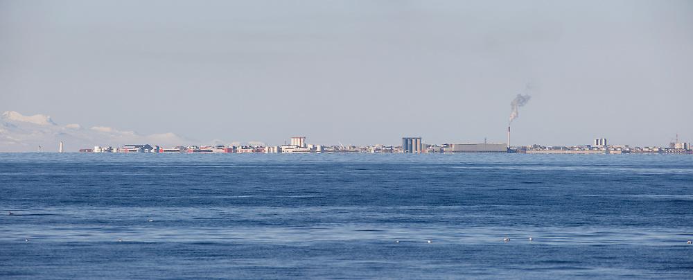 The city, Akranes seen from Reykjavik- Iceland - Horft til Akraness frá Reykjavík