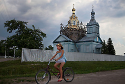 A church under construction is seen outside of Rivne in the small village of Zhovtneve, Ukraine, June 15, 2011. More than half of the worldÕs population, four billion people, live outside the rule of law, with no effective title to property, access to courts or redress for official abuse. The Open Society Justice Initiative is involved in building capacity and developing pilot programs through the use of community-based advocates and paralegals in Sierra Leone, Ukraine and Indonesia. The pilot programs, which combine education with grassroots tools to provide concrete solutions to instances of injustice, help give poor people some measure of control over their lives.