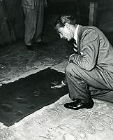 1943 Gary Cooper handprint ceremony