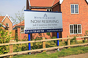 Hopkins and Moore new homes advertising sign, Snape, Suffolk, England, UK