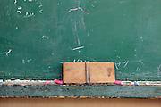 blackboard and chalk eraser