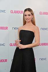 LILY JAMES at the Glamour Women of The Year Awards in Association with Next held in Berkeley Square Gardens, Berkeley Square, London on 3rd June 2014.