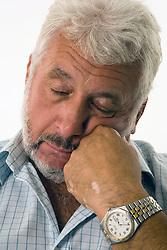 Mature man having a knap,