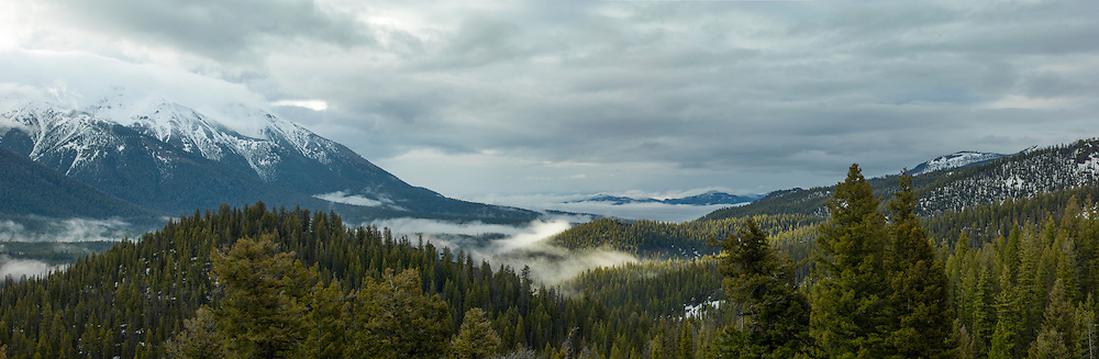 Galena Summit view of lower valley and lifting storm clouds.  Licensing and Open Edition Prints.