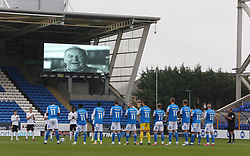 Peterborough United pay tribute to club legend Tommy Robson who recently passed away - Mandatory by-line: Joe Dent/JMP - 17/10/2020 - FOOTBALL - Weston Homes Stadium - Peterborough, England - Peterborough United v Oxford United - Sky Bet League One