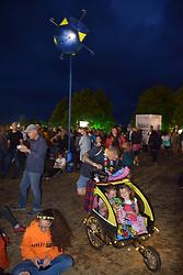 Latitude Festival, Henham Park, Suffolk, UK July 2019. Solar umbrella llights