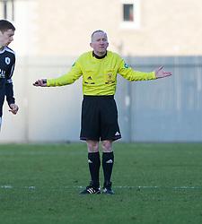 Referee David Somers..Dumbarton 0 v 2 Falkirk, 23/2/2013..©Michael Schofield.