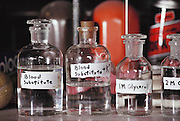 Cryonics experiments: laboratory re-agent bottles used by Paul Segall, of Berkeley, California, in his cryonics experiments that involved freezing animals after replacing their blood with a blood substitute solution, and then bringing them back to life. Cryonics is a speculative life support technology that seeks to preserve human life in a state that will be viable and treatable by future medicine. Cryonics involves the freezing of whole human bodies, organs, or pet cats & dogs, and their preservation in liquid nitrogen to await a future thaw. Cryonicists claim that medical science in the future may offer a cure for cancer or the restoration of youth, and that their methods of preservation might offer some people an opportunity to benefit from these advances. Conventional cryobiology methods for freezing organs (for organ transplants, for example) are plagued by problems of intracellular ice crystal formation, which destroys organs.  1988..
