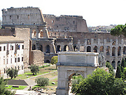 Italy, Rome, Coliseum from Palatino hill