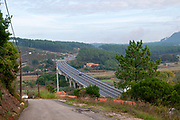 The N242 bridge over Rio Alcobaca south of Nazare, Portugal