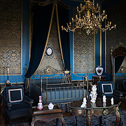 [Bedroom at Chapultepec Castle. Since construction first started around 1785, Chapultepec Castle has been a Military Academy, Imperial residence, Presidential home, observatory, and is now Mexico's National History Museum (Museo Nacional de Historia). It sits on top of Chapultepec Hill in the heart of Mexico City.