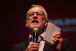 © Licensed to London News Pictures . 02/09/2019. Salford, UK. The Labour Party hold a rally at the Lowry theatre in Salford , attended by party leader Jeremy Corbyn , Angela Raynor and Rebecca Long-Bailey . Photo credit: Joel Goodman/LNP