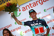 Podium, Hotess, Miss, Rafal Majka (POL - Bora - Hansgrohe) during the 105th Tour de France 2018, Stage 15, Millau - Carcassonne (181,5 km) on July 22th, 2018 - Photo Luca Bettini / BettiniPhoto / ProSportsImages / DPPI