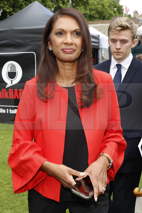 © Licensed to London News Pictures. 09/06/2017. London, UK. Gina Miller is seen near Parliament. Theresa May remains in Downing Street as negotiations begin to form a government after the Conservatives failed to win a clear majority in the general election . Photo credit: Peter Macdiarmid/LNP