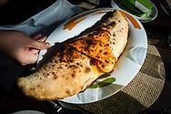 17-10-2015 -  Foto: Verdura Resort Pizza Calzone. Genomen tijdens een persreis met de Rocco Forte Invitational op Verdura Golf & Spa Resort in Sciacca (Agrigento), Italië.