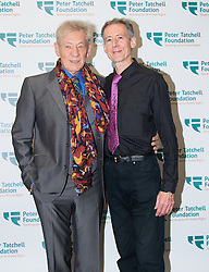 Old Town Hall, Stratford, London - 28 November 2015. Singers Marc Almond, Ronan Parke, Heather Peace and Asifa Lahore headline the Peter Tatchell Foundation's inaugural Equality Ball, a fundraiser for the foundation's LGBTI and human rights work, with guest of honour Sir Ian McKellen  joined by Paul O'Grady, Rupert Everett and Michael Cashman. PICTURED: Peter Tatchell and guest of honour Sir Ian McKellen.  //// FOR LICENCING CONTACT: paul@pauldaveycreative.co.uk TEL:+44 (0) 7966 016 296 or +44 (0) 20 8969 6875. ©2015 Paul R Davey. All rights reserved.