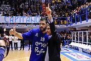 DESCRIZIONE : Brindisi  Lega A 2015-16 Enel Brindisi Pasta Reggia Juve Caserta<br /> GIOCATORE : Andrea Zerini Fernando Marino<br /> CATEGORIA : Before Pregame<br /> SQUADRA : Enel Brindisi<br /> EVENTO : Enel Brindisi Pasta Reggia Juve Caserta<br /> GARA :Enel Brindisi  Pasta Reggia Juve Caserta<br /> DATA : 24/04/2016<br /> SPORT : Pallacanestro<br /> AUTORE : Agenzia Ciamillo-Castoria/M.Longo<br /> Galleria : Lega Basket A 2015-2016<br /> Fotonotizia : <br /> Predefinita :