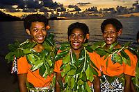 Fijian women, Nukubati Island Resort, Fiji Islands