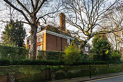 Robbie Williams' house in Melbury Road, where neighbours Led Zeppelin's Jimmy Page and the Solo mega-star and former Take That member are locked in a bitter planning dispute over Williams' plans for an 'iceberg' basement under his home in West London's posh Holland Park. London, December 17 2018.