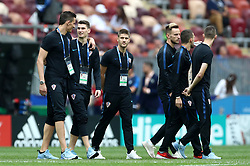 Left to right, Croatia's Lovre Kalinic, Dominik Livakovic, Andrej Kramaric, Ivan Rakitic, Mateo Kovacic and Marcelo Brozovic before the FIFA World Cup 2018 final at the Luzhniki Stadium in Moscow, 15th July 2018