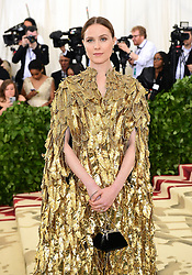 Evan Rachel Wood attending the Metropolitan Museum of Art Costume Institute Benefit Gala 2018 in New York, USA. PRESS ASSOCIATION Photo. Picture date: Picture date: Monday May 7, 2018. See PA story SHOWBIZ MET Gala. Photo credit should read: Ian West/PA Wire